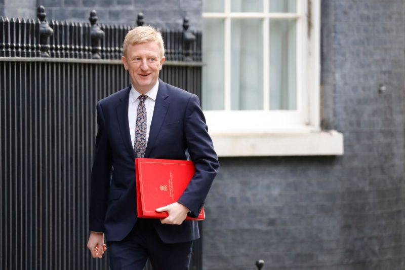 Britain's Culture Secretary Oliver Dowden arrives for a meeting of the cabinet at 10 Downing Street on March 11, 2020 ahead of the announcement of Britain's first post-Brexit budget. - Britain unveils its first post-Brexit budget on on March 11, with all eyes on emergency government measures to ease the economic pain from the coronavirus outbreak. (Photo by Tolga AKMEN / AFP) (Photo by TOLGA AKMEN/AFP via Getty Images)