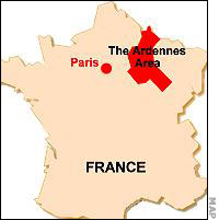 French Ardennes on map