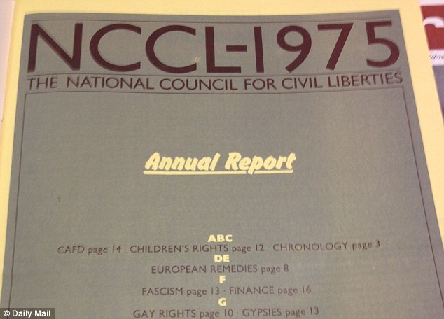 Annual report for 1975: Patricia Hewitt published this document in April 1976, which included a 'gay rights' section on page ten defending the Paedophile Information Exchange and its members